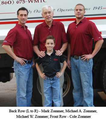 Back Row (L to R) - Mark Zommer, Michael A. Zommer, Michael W. Zommer; Front Row - Cole Zommer